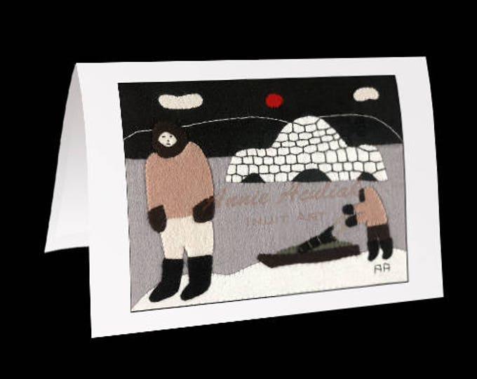 "Eskimo Greeting Card #3 ""Big Noah Aculiak"" by Annie Aculiak"