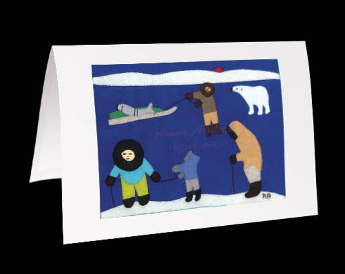 "Inuit Greeting Card #18 ""Going Home After the Hunt"" by Annie Aculiak"