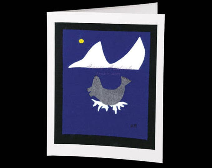 "Inuit Greeting Card #19 ""A Melting Iceberg"" by Annie Aculiak"