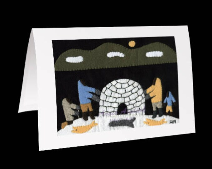 "Inuit Greeting Card #20 - ""Shelter for the Night"" by Annie Aculiak"