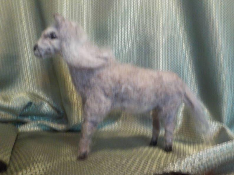 Needle Felted Grey Horse 3