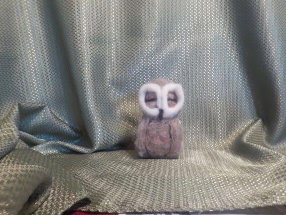 Needle Felted Baby Sleeping Owl Etsy
