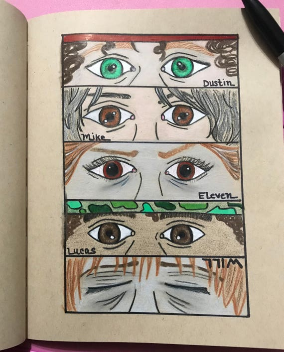 Stranger Things Cast Drawing Etsy