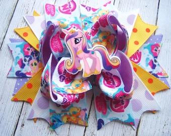 My Little Pony Hair Bow  Princess Pony Hair bow  Pony Birthday My Little Pony Dress Pony Boutique Bow Birthday Party Pony Hair Clip