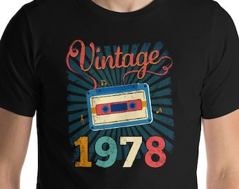 41st Birthday Gift Shirt Turning 41 Years Old Vintage 1978 Party For Him