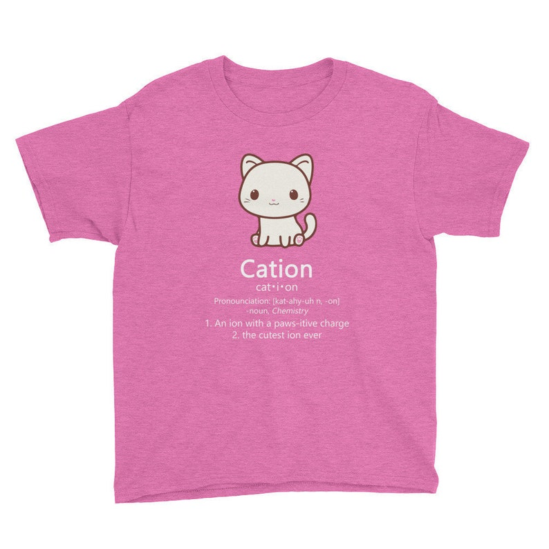 85d7130d9c Cute Science Cat Kawaii Cation Chemistry Pawsitive Charge Ion | Etsy