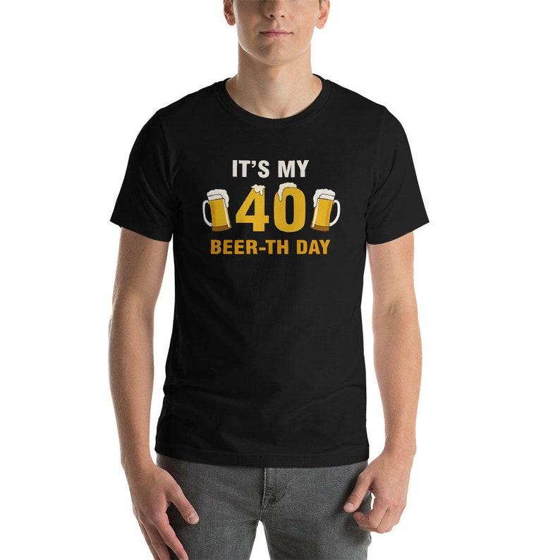 24f742e9 Happy Beerth 40th Birthday Shirt 40th Birthday Gift Shirt   Etsy