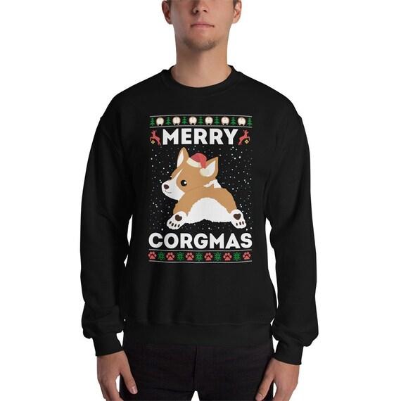 7515bf32 Corgi Ugly Christmas Sweater Funny Corgi Dog Sweater Merry | Etsy