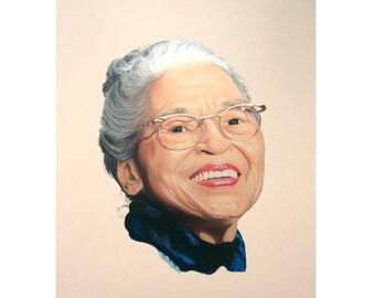 Portrait Painting of Rosa Parks