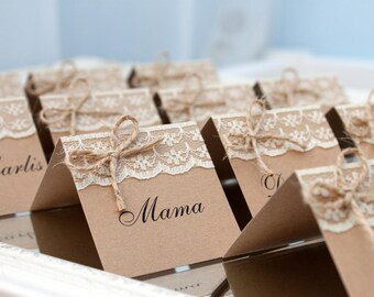 Rustic place cards | Etsy