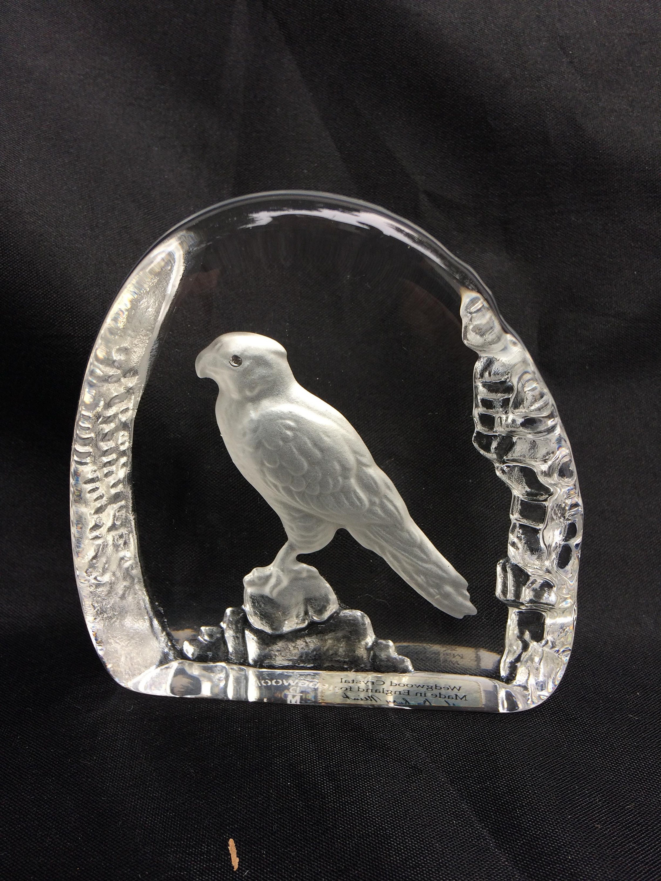 Wedgewood Clear Glass Paperweight Pottery, Porcelain & Glass