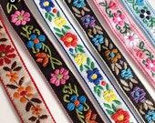 1 Yard Flower Jacquard Ribbon Geometric Woven Trim Border Embroidered Ribbon Sewing Trim Craft Ribbon Jacquard Trim PF_ZDNC278