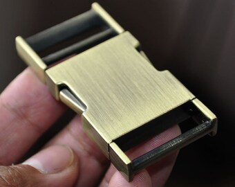 2 PCs MATTE GREY Zinc Curved Side Release Buckle for Paracord Webbing Bags Belts Locks Fanny Packs Bracelets Collar  High Quality