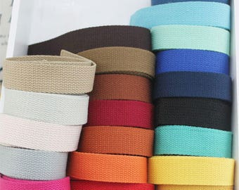 5 Metres Cotton Webbing 1 inch wide 25mm Thick Web Bag Strapping