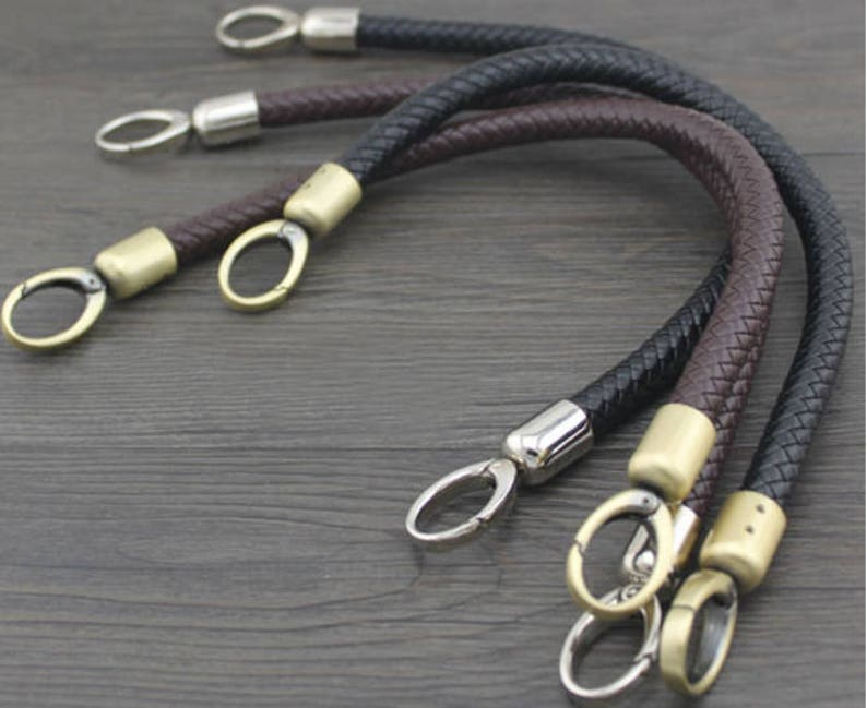 A piece of purse handle PU leather strap for Bag Leather Replacement Strap Handles handbag handle CAE1024