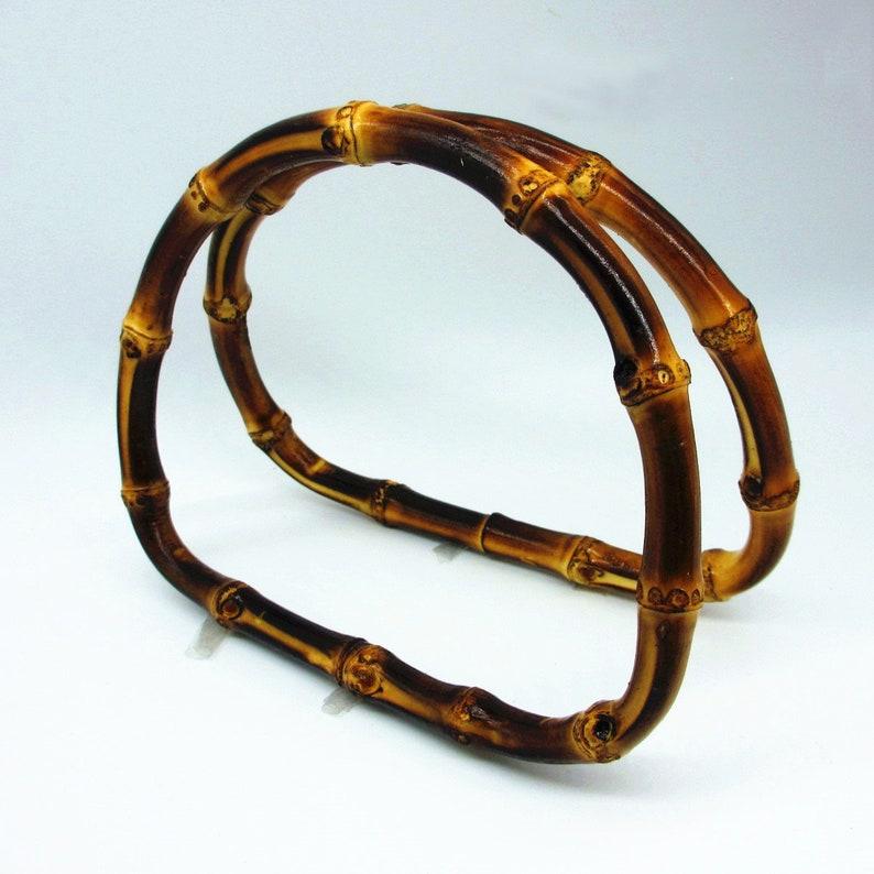 Bamboo Purse Handle handbag handle bag hardware a pair Bamboo Bag Handle 12cm 4.7 in