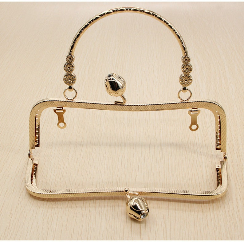 1Pc Purse Frame 20CM Bag Purse Frame Handbag Frame Metal Coin Sewing Frame Clasp CAE-M437
