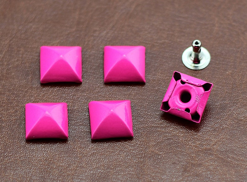 PACK of 30 Hot Pink Cone Rivets Studs Leather Studs Lea