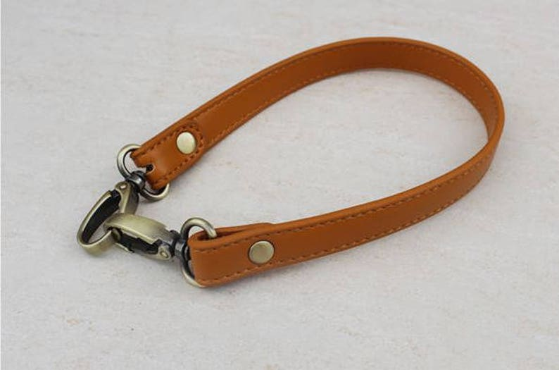 A piece of purse handle PU leather strap for Bag Leather Replacement Strap Handles handbag handle LS004