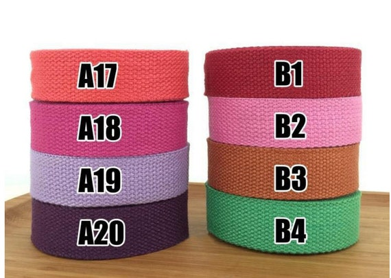 378 bag strap for tote bag Upholstery Webbing 2 Yards Cotton Webbing 1 Inch Wide For Bag handles Thick Strong Bag Purse Cotton Webbing