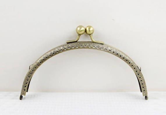 1Pc Purse Frame 18CM Bag Purse Frame Handbag Frame Metal Coin Sewing Frame Clasp CAE-M214