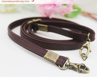 A piece of adjustable purse handle PU leather strap for Bag Leather Replacement Strap Handles handbag handle CAE027