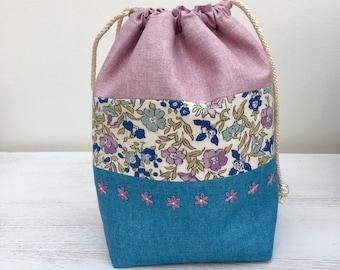 Liberty Drawstring Bag / Project Bag (small)