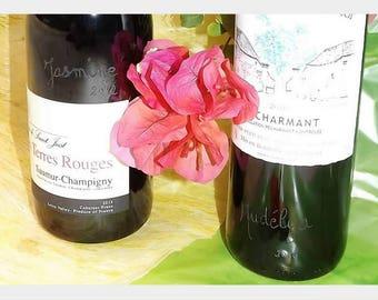 Custom wine bottle print