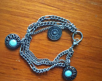 Turquoise Charm Bauble Bracelet