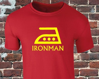 870e5632 Ironman Mens T-Shirt - Iron man funny triathlete / Triathlon T-Shirt -  Ironman