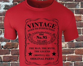 Vintage 95 Years Old T Shirt