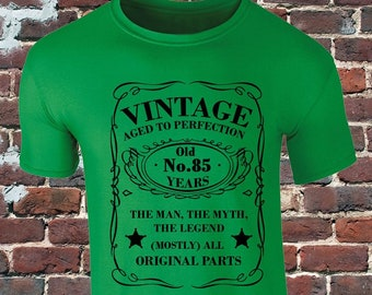Vintage 85 Years Old T Shirt