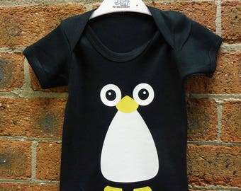 Penguin Cute Baby Vest / Baby Grow / Baby Playsuit