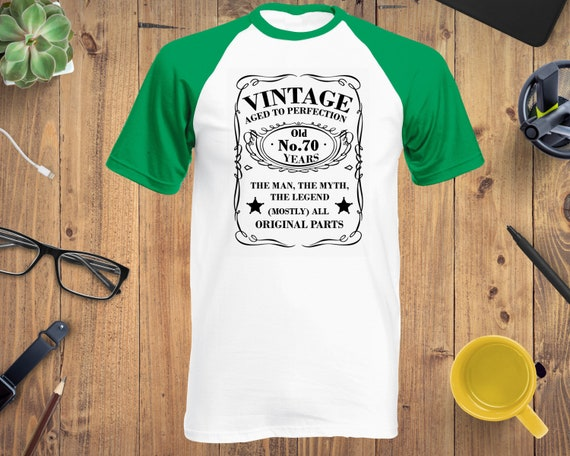 Mens 70th Birthday T-Shirt 70 YEARS OLD ONE OWNER Novelty Gift Joke Present Top