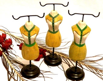 Set of 3 Jewelery Hangers, Mannequin, Hanger Bracelet, Necklace Pendant, Mannequin Organizer, Decoration Hanger Vintage, Coat Rack Jewelery