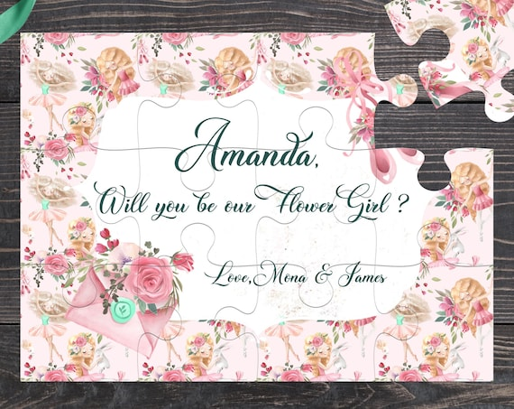 Will You Be My Flower Girl Puzzle, Flower Girl Gift, Flower Girl Proposal, Will you be my, Flower Girl Cute Gift BP 5