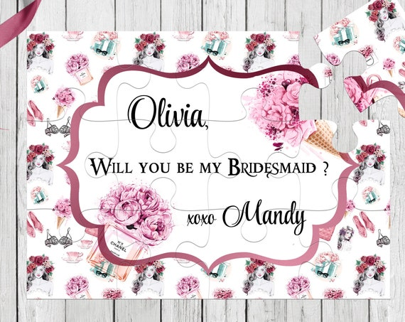 Will You Be My Bridesmaid Proposal Bridesmaid Puzzle Be My Bridesmaid Will You Be My Maid of Honor Proposal Personalized Puzzle BP 7