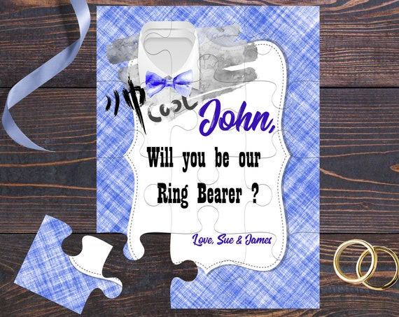 Will You Be Our Ring Bearer Personalized Ring Bearer Puzzle Ring Bearer Puzzle Page Boy Puzzle Junior Groomsman Ring Bearer Proposal BP 3