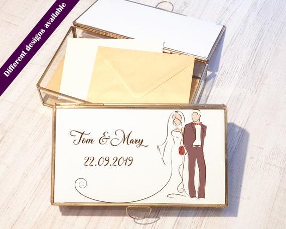 Personalized wedding card box , Custom wedding card holder. Personalised wedding post box
