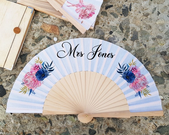 Set of 10 Personalised Hand Fan for bridesmaid gift, bridemaid proposal, Custom Name Gift, Bride Hand fan, Maid of Honor gift HF22