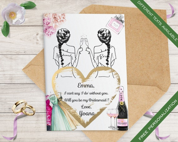 Set of 10 Scratch off Bridesmaid Proposal Cards, Elegant Bridesmaid Card, Ask bridesmaid, Maid of honor Card, Maid of honor proposal  C3