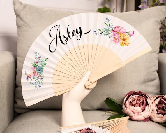 Personalized wedding fans, Customized Hand Fan for brides, Custom Hand Fan, Bride Hand fan, Folding Hand fan, Personalised Hand fan HF31