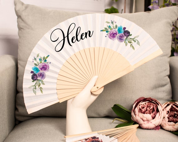 Personalised Name Hand Fan | Hen Party | Honeymoon | Holiday | Beach Accessory | Bride to be | Wedding | Personalized Hand Fan | HF32