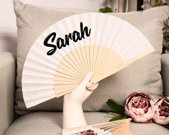 Customized Hand Fan for brides with strawberries, bridemaid proposal, Custom Hand Fan, Bride Hand fan, Folding Hand fan, Summer Wedding  HF