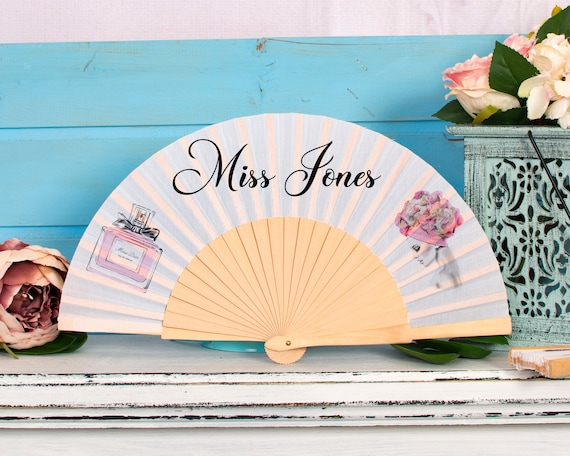Personalized Wedding Favors, Custom Hand Fans, Bridal Shower Wedding Fans, Custom hand fans  HF37