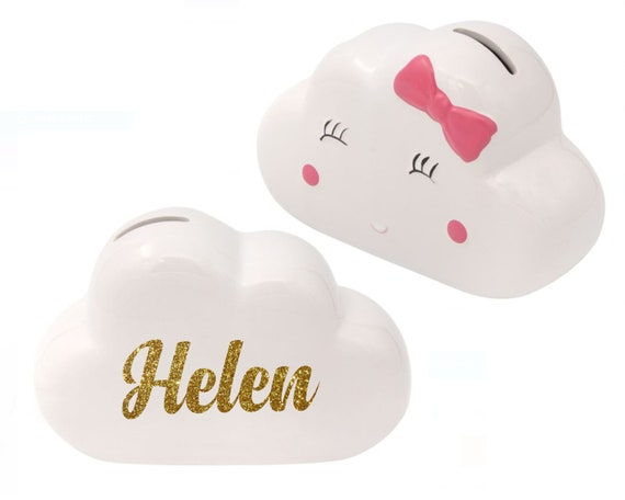Personalised Cloud Money Box Bank, Piggy bank for kids, Coin bank, Birthday gift, piggy bank for girls, Kids piggy bank, Baby birth gift