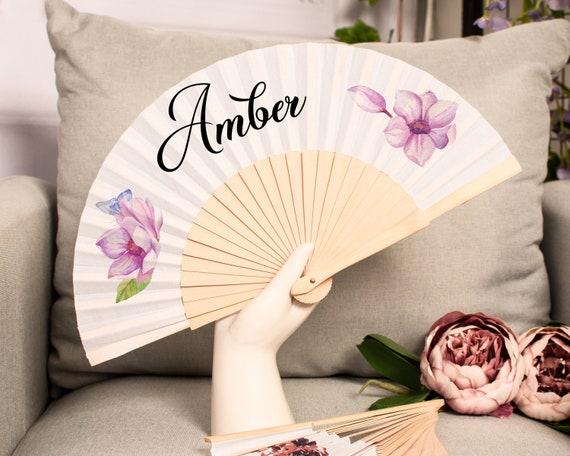 Personalized Hand Fan for Wedding, Custom hand Fans, Gift for Bridal Shower, Marriage, Wedding, Custom fan, Bridemaid gift HF33