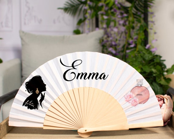 Hand Fan Custom for Wedding | Party Favor Tag | Bamboo Hand Fan | Hand Fans | Handfan | Hand Fan for Wedding  HF43