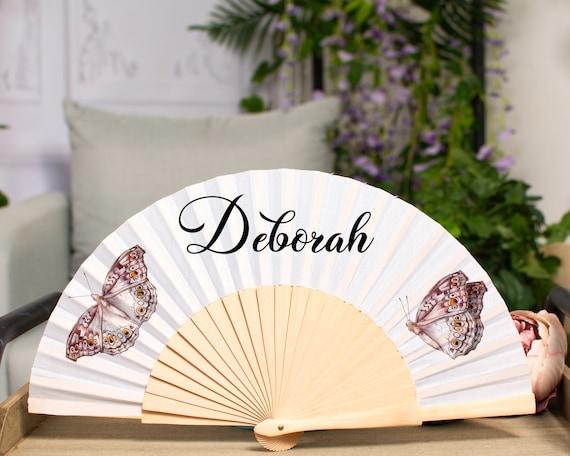 Personalized wedding fans, Customized Hand Fan for brides, Custom Hand Fan, Bride Hand fan, Folding Hand fan, Personalised Hand fan HF41