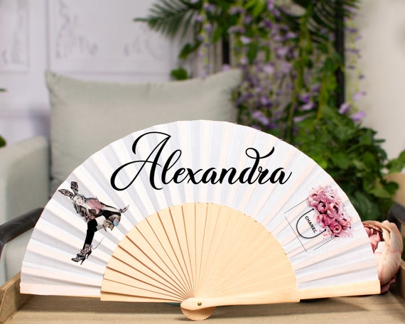 Personalized Hand Fan for brides, bridemaid proposal, Custom Hand Fan, Bride Hand fan, Maid of Honor gift, Summer Wedding HF40